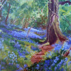 BLUEBELL WOOD 2013 ACRYLIC ON MDF by Valerie Nerva