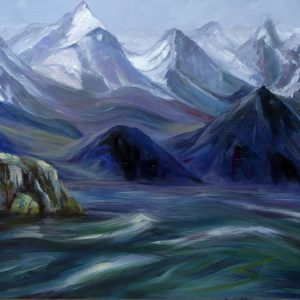 1631 - FJORD, OIL ON CANVAS by Valerie Nerva