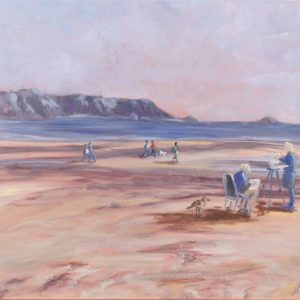 ARTISTS ON THE BEACH by Valerie Nerva