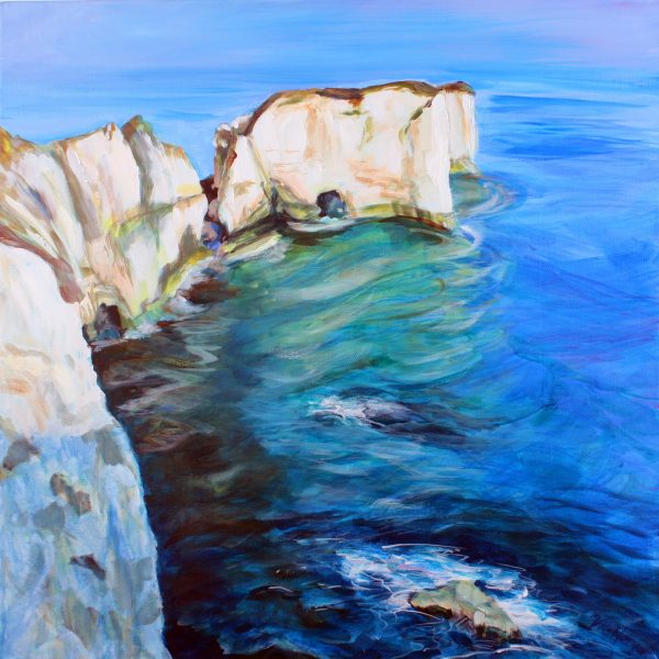 OLD HARRY ON A PERFECT WINTER'S DAY ACRYLIC ON BOX CANVAS by Valerie Nerva