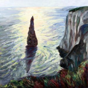 THE STACK, LATE AFTERNOON, OIL ON BOX CANVAS by Valerie Nerva