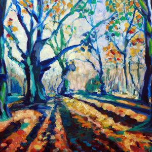 AUTUMN FOREST, BLUE SHADOWS