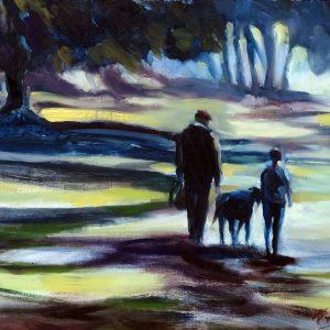 The Forest Walk, an original oil painting by fine artist Valerie Nerva