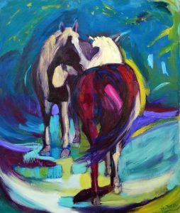 Horse love: Magenta and Turquoise Valerie Nerva