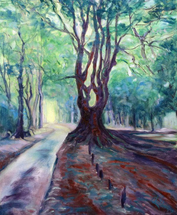 An original oil painting by fine artist Valerie Nerva